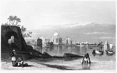 Raj Photograph - India: Taj Mahal, C1860 by Granger