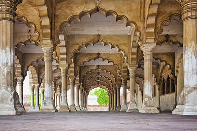Y120907 Photograph - India, Uttar Pradesh, Agra, Agra Fort, Hall Of Public Audience by Bryan Mullennix