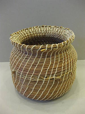 Seminole Baskets Sculpture - Indian Artifact by Beth Lane Williams