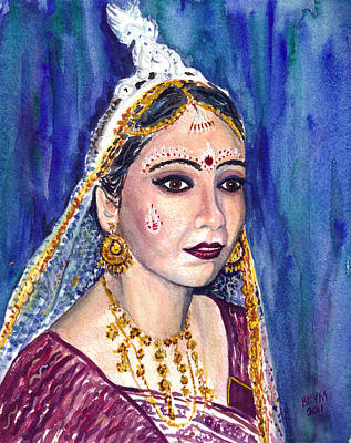 Painting - Indian Bride  by Clara Sue Beym