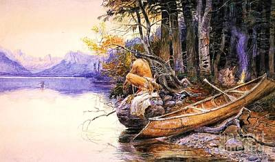 Painting - Indian Camp Lake Mcdonald by Roberto Prusso