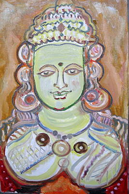 Painting - Indian Deity Kamahshi Devi by Anand Swaroop Manchiraju