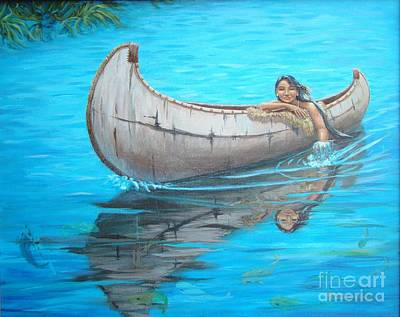Hidden Objects Painting - Indian Dreamer by Terrie Leyton