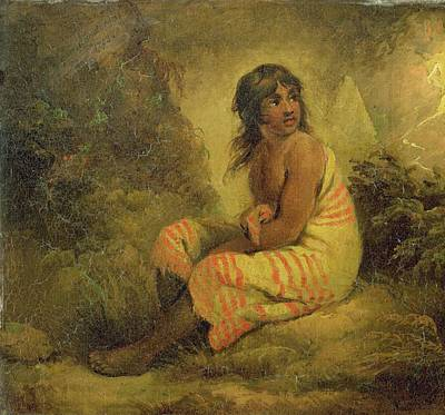 Indian Girl Art Print by George Morland