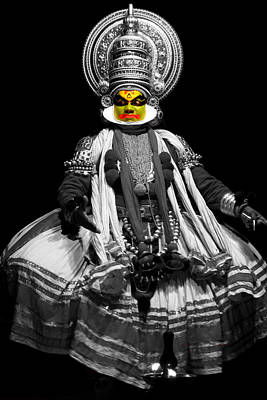 Colorful Photograph - Indian Kathakali Dance by Sumit Mehndiratta
