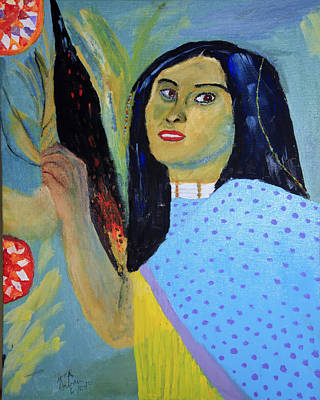 Painting - Indian Maiden by Swabby Soileau