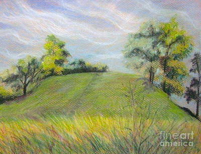 Pastel - Indian Mounds by Gretchen Allen