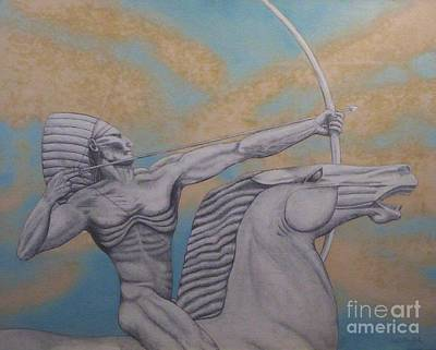 Indian On Horseback Art Print