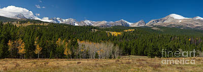 Colorado Autumn Landscapes Photograph - Indian Peaks Continental Divide Boulder County Colorado Panorama by James BO  Insogna