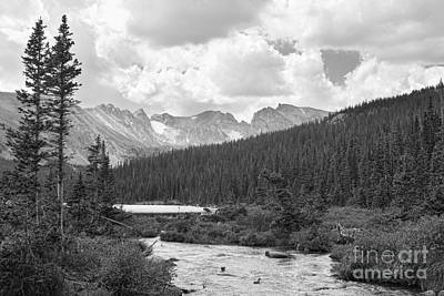 Indian Peaks Summer Day Bw Art Print by James BO  Insogna