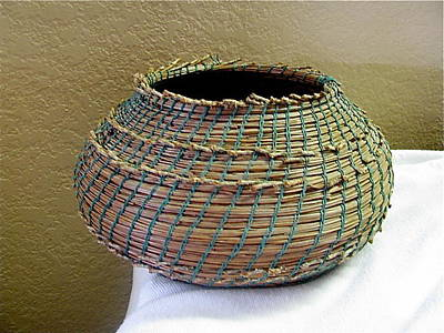 Seminole Baskets Sculpture - Indian Replica by Beth Lane Williams