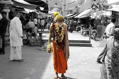 Indian Sadhu At A Religious Spot In India Art Print by Sumit Mehndiratta