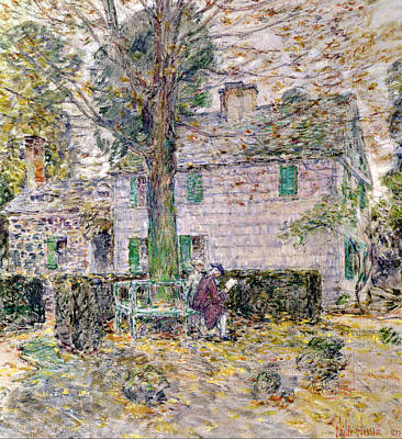Childe Photograph - Indian Summer In Colonial Days by Childe Hassam
