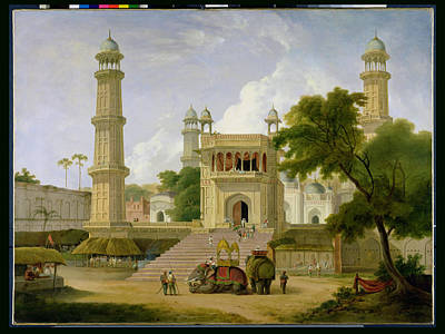 Temple Wall Art - Photograph - Indian Temple by Thomas Daniell