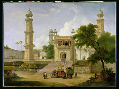 Raj Photograph - Indian Temple by Thomas Daniell