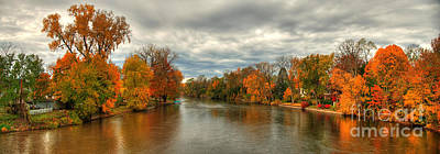 Indiana Autumn Landscape Art Print by Richard Fairless