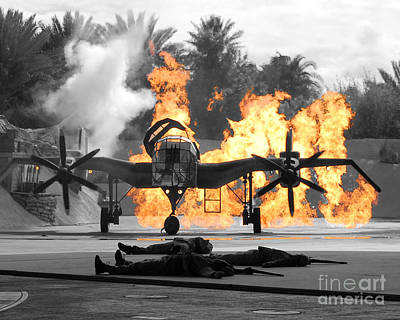 Photograph - Indiana Jones Epic Stunt Spectacular At Hollywood Studios Walt Disney World Prints Color Splash by Shawn O'Brien