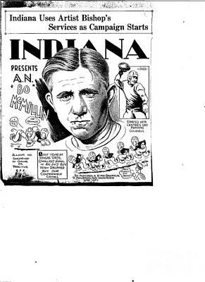 Indiana Sports Art Print by Steve Bishop