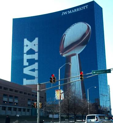 Indianapolis Marriott Trubute To Super Bowl 46 Art Print