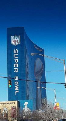Indianapolis Marriott Welcomes Super Bowl 46 Art Print