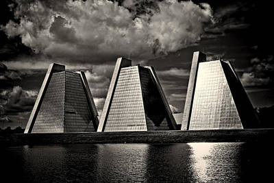 Photograph - Indianapolis Pyramids 2 by David Haskett II