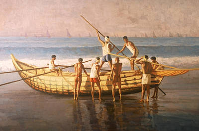 Painting - India's Fishermen by Mel Greifinger