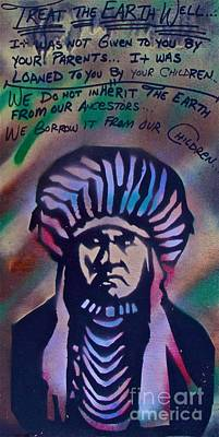 Indigenous Motto Earth Tones Art Print
