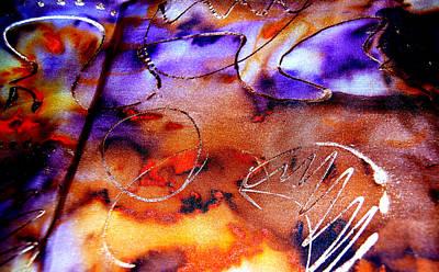 Indigo Brown Orange Yellow And Silver  Art Print by Alexandra Jordankova