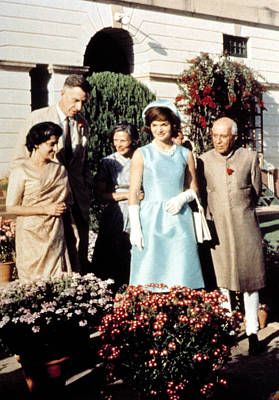 Indira Gandhi, Ambassador & Mrs. John Art Print
