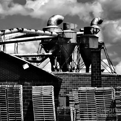 Industrial Building Art Print by HD Connelly