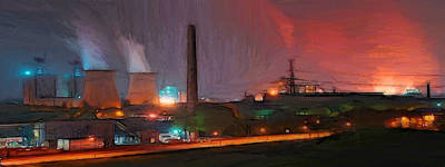 Industrial Lights Art Print by Steve K