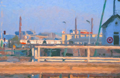 Nederland Painting - Industrial Zone Maastricht by Nop Briex