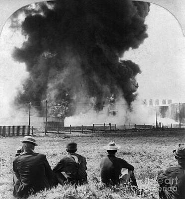 Photograph - Industry: Oil Fire, C1902 by Granger