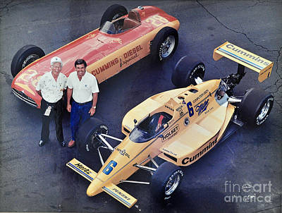 Photograph - Indy 500 Historical Race Cars by John Black