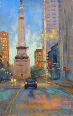 Indy Monument At Twilight Art Print