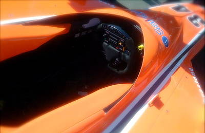 Indycar Photograph - Indycar Orange by Terry Zeyen