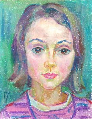Pastel Painting - Ines Manonelas by Leonid Petrushin