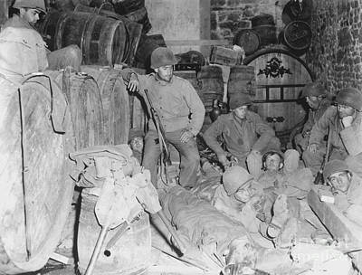 Infantryman Photograph - Infantrymen Rest In A Deserted House by Stocktrek Images