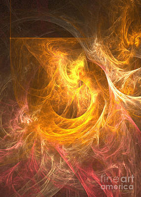Digital Art - Inferno - Abstract Digital Art by Sipo Liimatainen