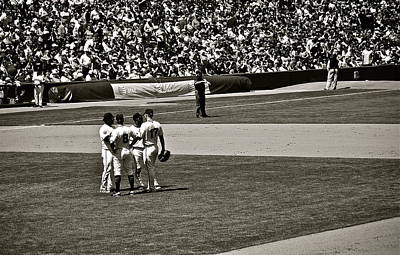 Art Print featuring the photograph Infield Meeting by Eric Tressler