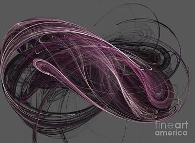 Art Print featuring the digital art Infinity by Kim Sy Ok