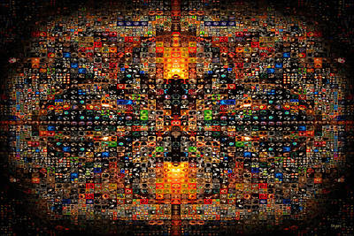 Digital Art - Infinity Mosaic Warm by Paula Ayers