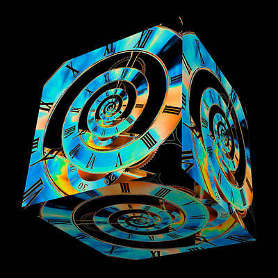 Photograph - Infinity Time Cube On Black by Steve Purnell