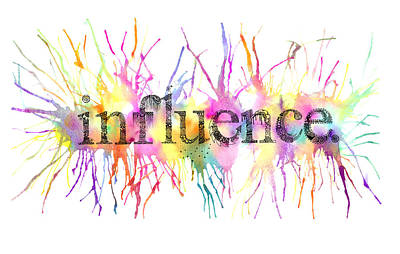 Influence. Art Print by Kalie Hoodhood