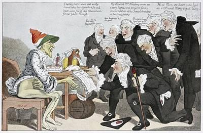 Influenza Epidemic, Satirical Artwork Art Print