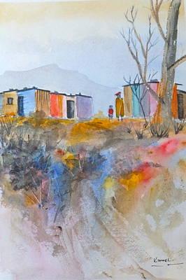 Painting - Informal Settlement Cape Town by Harold Kimmel