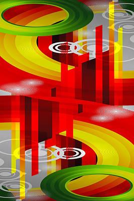 Digital Art - Information Superhighway by Angelina Tamez