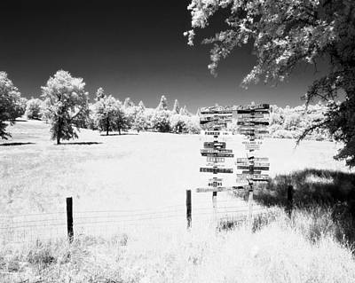 Photograph - Infrared Signs by Jan W Faul