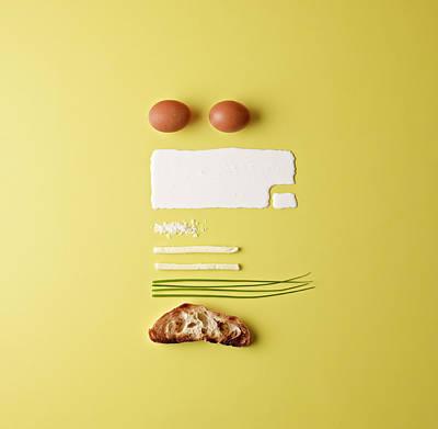 Ingredients For Scrambled Eggs Art Print