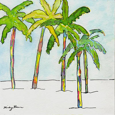 Painting - Inked Palms by Mickey Krause